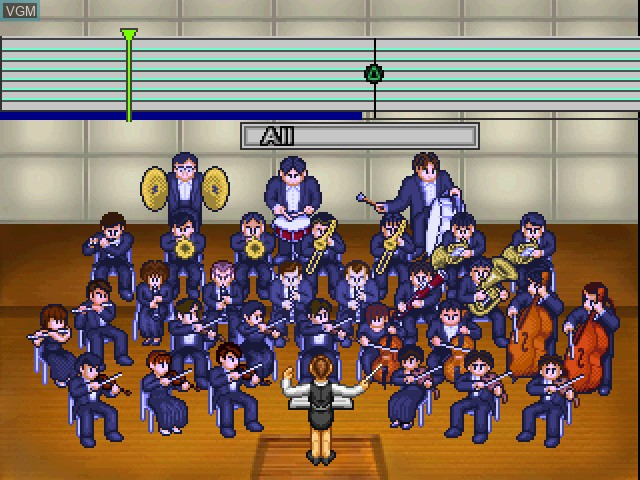 In-game screen of the game Le Concert - pp - Pianissimo on Sony Playstation