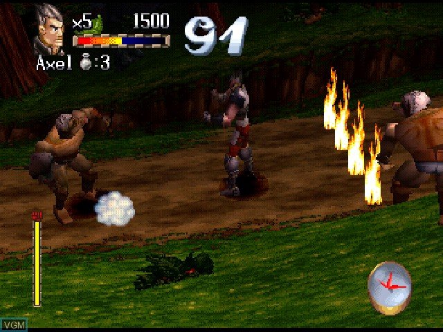 In-game screen of the game Legend on Sony Playstation