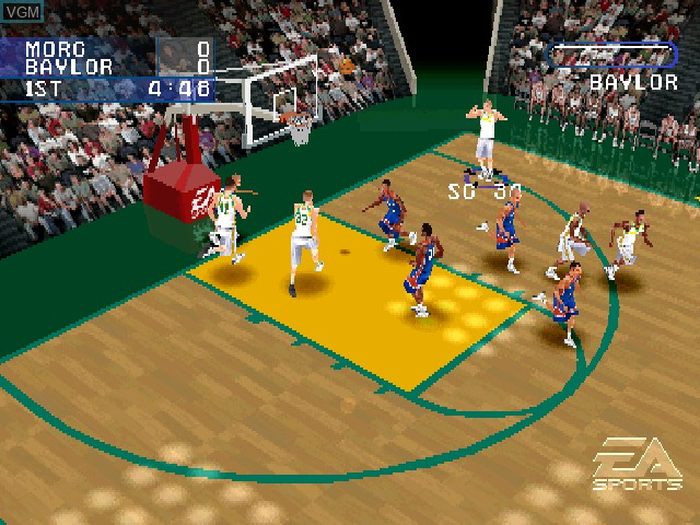 In-game screen of the game NCAA March Madness 2001 on Sony Playstation