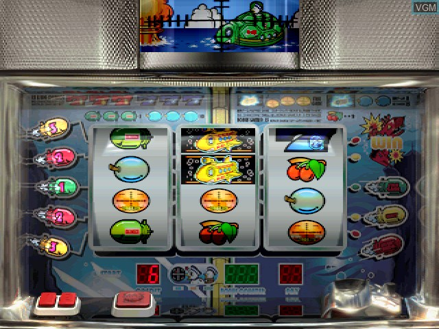 In-game screen of the game Pachi-Slot Aruze Oukoku 4 on Sony Playstation