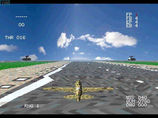 In-game screen of the game Wing Over on Sony Playstation