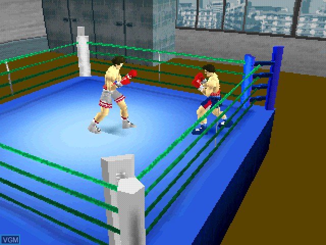 In-game screen of the game K.O. the Live Boxing on Sony Playstation