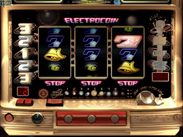 In-game screen of the game Pachi-Slot Aruze Oukoku 3 on Sony Playstation