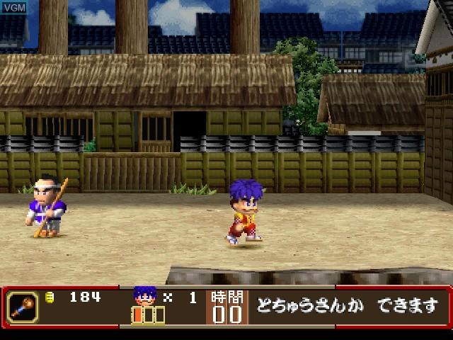 In-game screen of the game Ganbare Goemon - Ooedo Daikaiten on Sony Playstation
