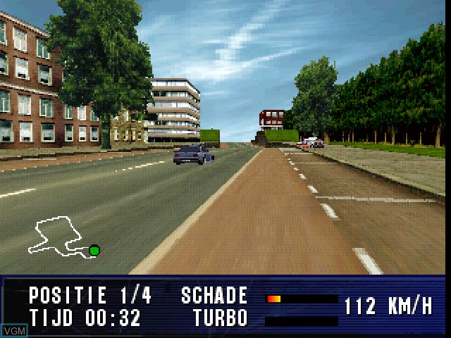 In-game screen of the game A2 Racer - Europa Tour on Sony Playstation