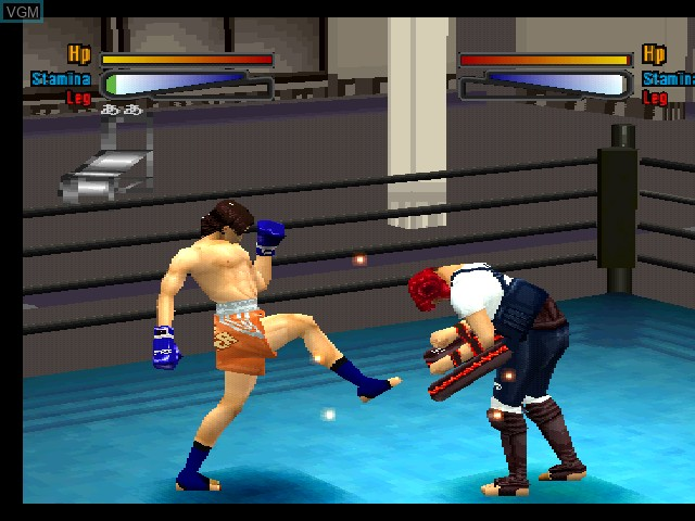 In-game screen of the game K-1 Ouja ni Narou! King of Kings on Sony Playstation