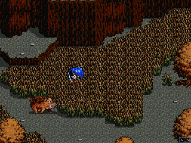 In-game screen of the game Legend of Heroes III, The - Shiroki Majo - Mouhitotsu no Eiyuutachi no Monogatari on Sony Playstation