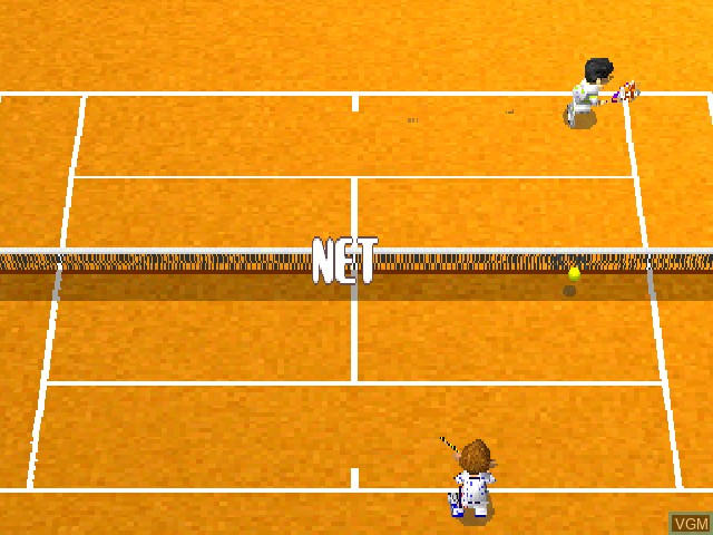 In-game screen of the game Love Game's - Wai Wai Tennis on Sony Playstation