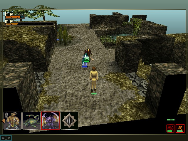In-game screen of the game Lord of Monsters on Sony Playstation