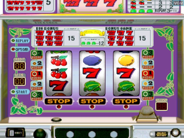 In-game screen of the game Pachi-Slot Kanzen Kaiseki - Wet2 Poker on Sony Playstation