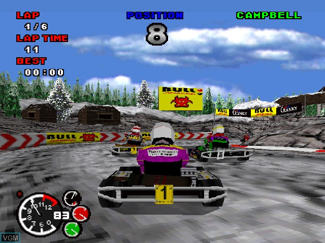 In-game screen of the game Formula Karts - Special Edition on Sony Playstation