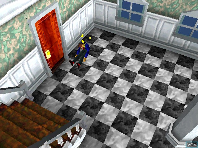 In-game screen of the game Welcome House on Sony Playstation