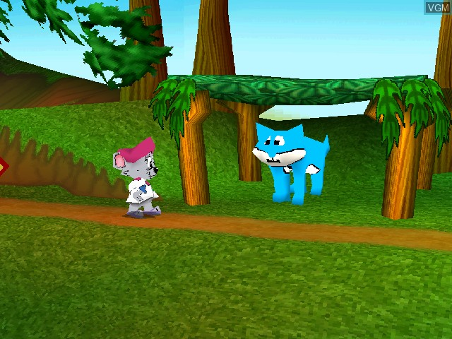 In-game screen of the game JumpStart Wildlife Safari - Field Trip on Sony Playstation