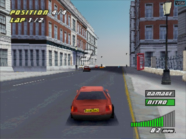 In-game screen of the game London Racer II on Sony Playstation