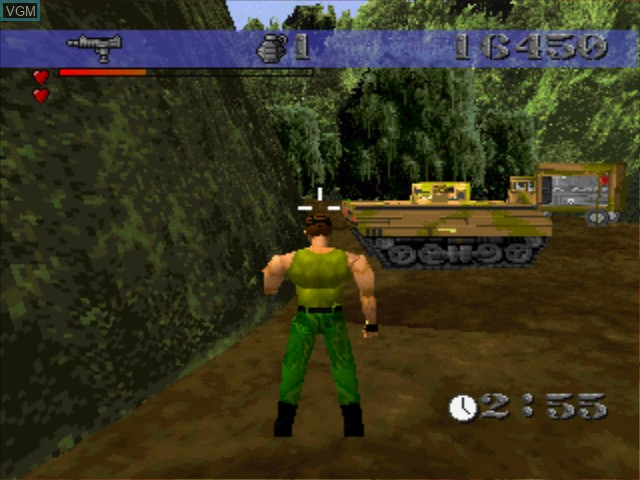 In-game screen of the game Lone Soldier on Sony Playstation
