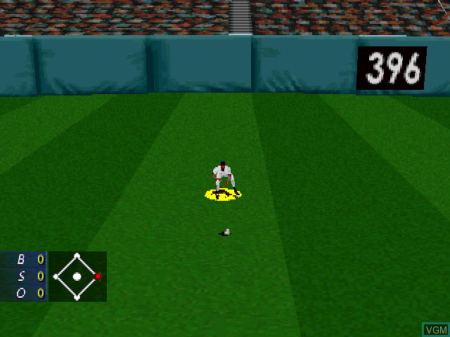 In-game screen of the game 3D Baseball on Sony Playstation