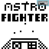 Title screen of the game Astro Fighter on Sony Pocket Station