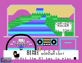 Title screen of the game Car-azy-racer on Tomy Pyuuta / Tutor