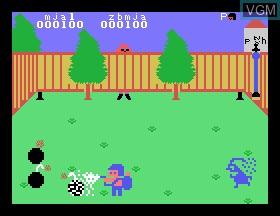 In-game screen of the game Bombman on Tomy Pyuuta / Tutor