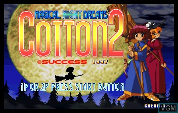 Title screen of the game Cotton 2 on ST-V