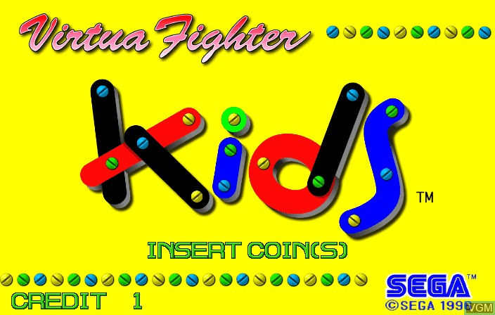 Title screen of the game Virtua Fighter Kids on ST-V