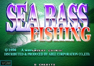 Title screen of the game Sea Bass Fishing on ST-V