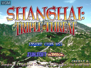 Title screen of the game Shanghai - The Great Wall / Shanghai Triple Threat on ST-V