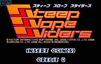 Title screen of the game Steep Slope Sliders on ST-V