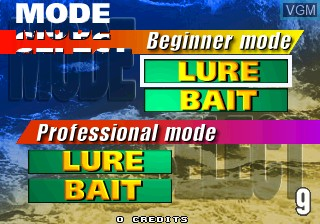 Menu screen of the game Sea Bass Fishing on ST-V