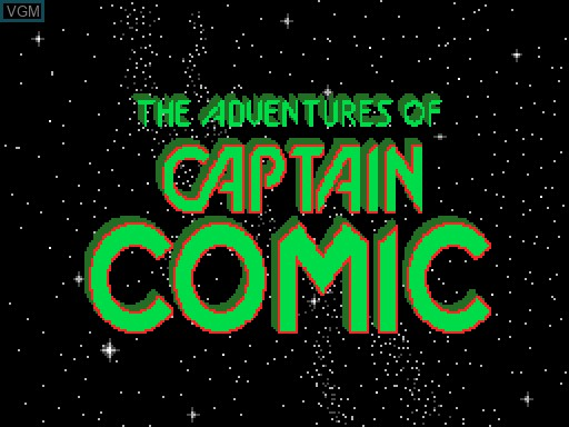 Title screen of the game Captain Comic on MGT Sam Coupé
