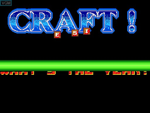 Title screen of the game Craft on MGT Sam Coupé
