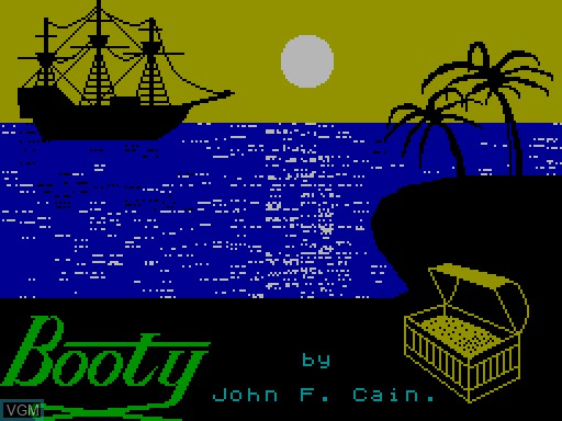 Title screen of the game Booty on MGT Sam Coupé