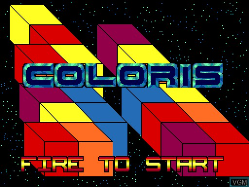 Title screen of the game Coloris on MGT Sam Coupé