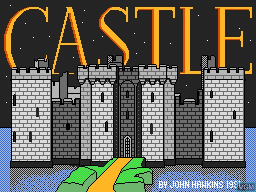 Title screen of the game Castle on MGT Sam Coupé