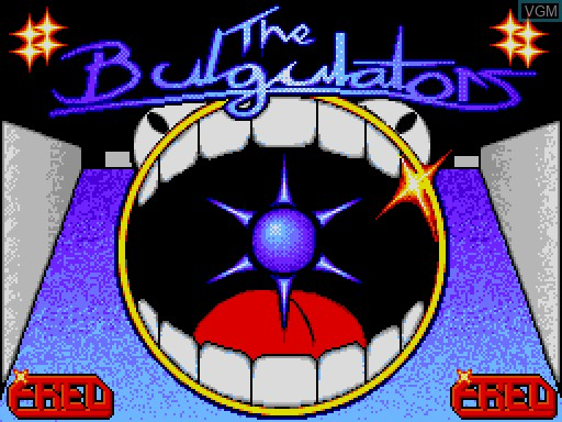 Title screen of the game Bulgulators, The on MGT Sam Coupé