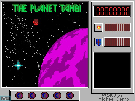 Menu screen of the game Captain Comic on MGT Sam Coupé
