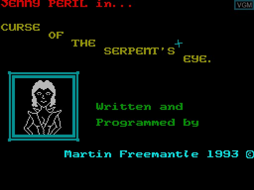 Menu screen of the game Curse of the Serpent's Eye on MGT Sam Coupé