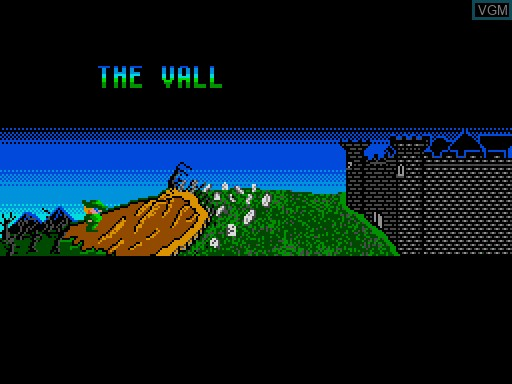 Menu screen of the game Bowin and the Count Dracula on MGT Sam Coupé