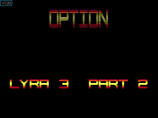 Menu screen of the game Coloris on MGT Sam Coupé