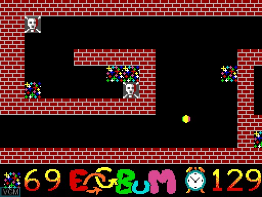 In-game screen of the game EGGBuM on MGT Sam Coupé
