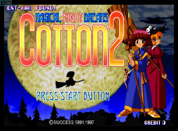 Title screen of the game Magical Night Dreams - Cotton 2 on Sega Saturn