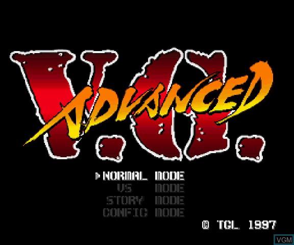 Title screen of the game Advanced V.G. on Sega Saturn