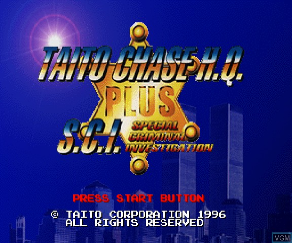 Title screen of the game Taito Chase H.Q. + S.C.I. on Sega Saturn