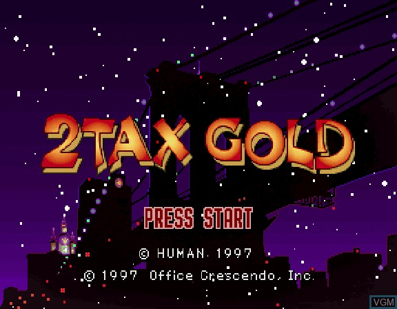 Title screen of the game 2Tax Gold on Sega Saturn