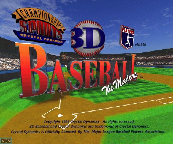 Title screen of the game 3D Baseball - The Majors on Sega Saturn