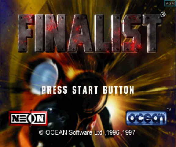 Title screen of the game 3D Mission Shooting Finalist on Sega Saturn