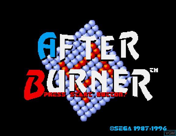Title screen of the game Afterburner II on Sega Saturn