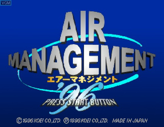 Title screen of the game Air Management 96 on Sega Saturn