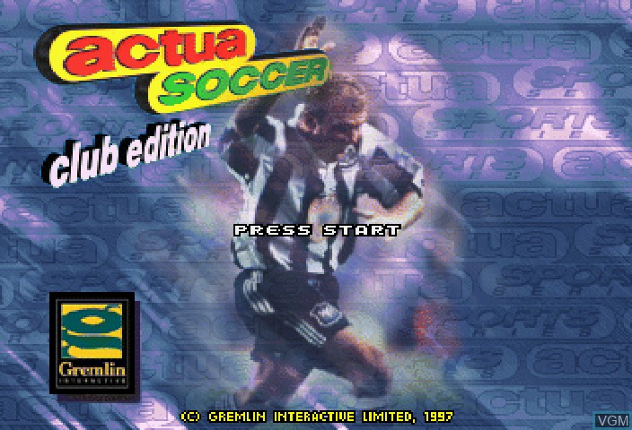 Title screen of the game Actua Soccer - Club Edition on Sega Saturn