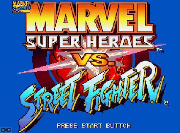Marvel Super Heroes Vs Street Fighter For Sega Saturn The Video